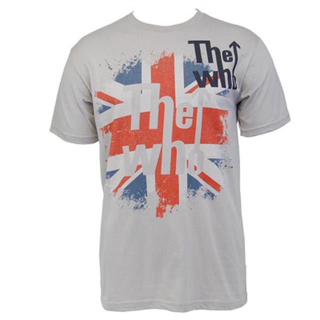 The Who Flag Slim T-shirt (Grey)