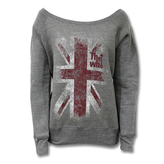 The Who Union Jack Grey Scoop Neck Sweatshirt