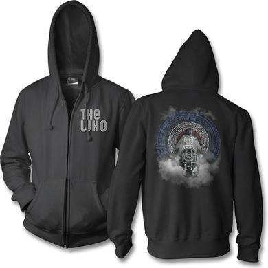 The Who Quad Scooter Black Zip Up Hoodie