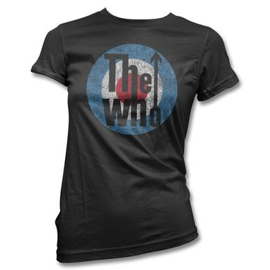 The Who Distressed Classic Logo T-shirt - Women's