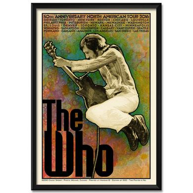 The Who Chuck Sperry Limited Edition 2016 US Tour Poster - Pete Version