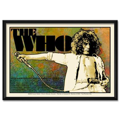 The Who Chuck Sperry Limited Edition 2016 US Tour Poster - Roger Version