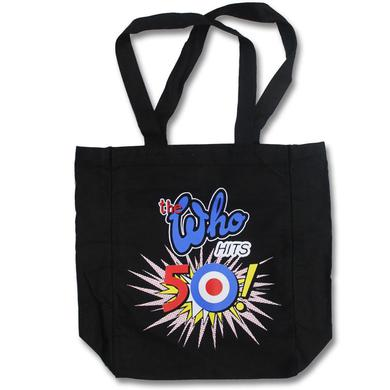 The Who 50th Logo Black Tote Bag