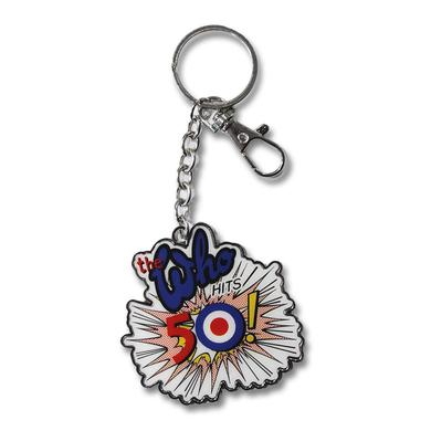 The Who 50th Logo Silver Keychain