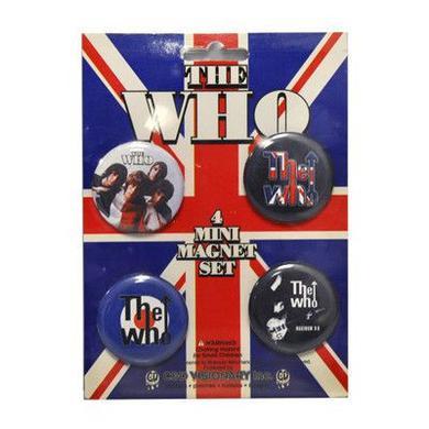 The Who Black Mini Magnet Set