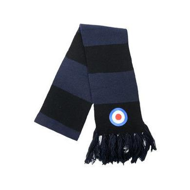 The Who Black Wrap Embroidered Scarf