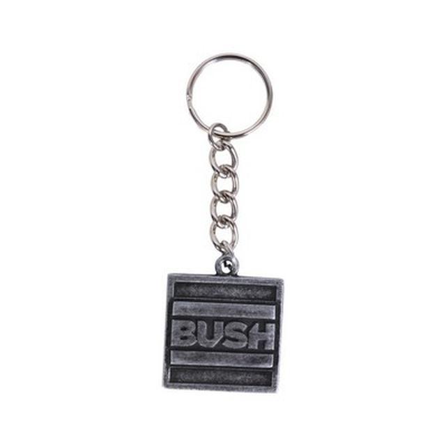 Bush Square Metal Keychain