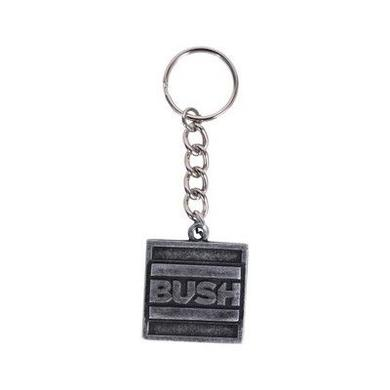 Bush Square Metal Keychain