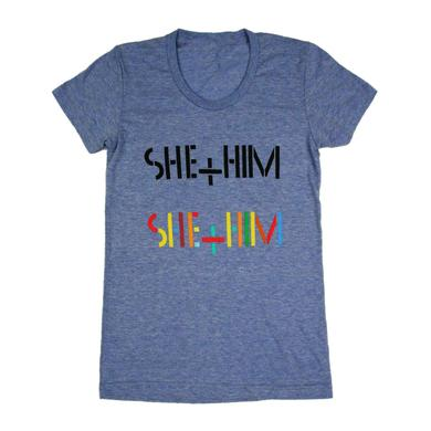 She & Him Grid Women's T-Shirt