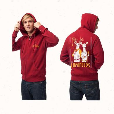 The Lumineers Deer Zip Up Hoodie