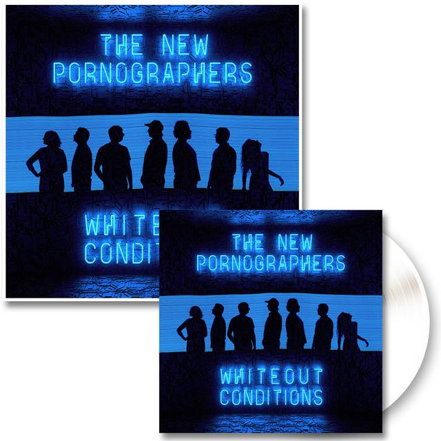 The New Pornographers Whiteout Conditions LP (White) & Glow In The Dark Poster