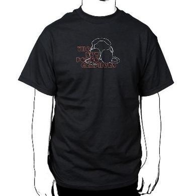 The New Pornographers Headphone Black T-Shirt