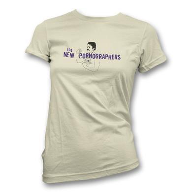 The New Pornographers Mustache Man Cream T-Shirt - Women's