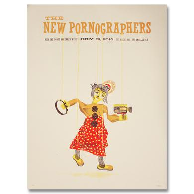 The New Pornographers The Music Box Los Angeles, CA 7/19/10 Poster
