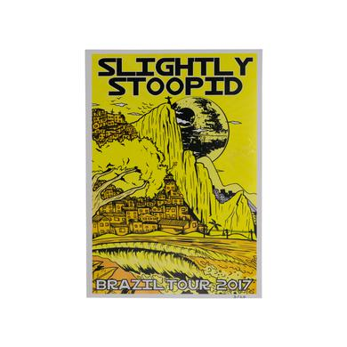 Slightly Stoopid Limited Edition Brazil 2017 Tour Poster - Yellow
