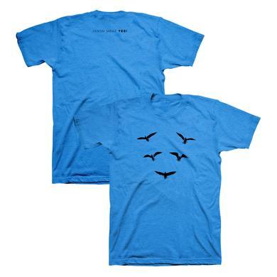 Jason Mraz Birds Heather Blue T-Shirt