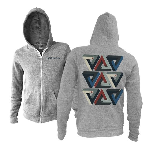 Jason Mraz Triangles Zip Hoodie