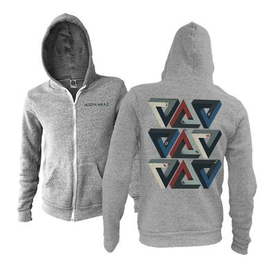 Jason Mraz Triangles Zip Hoodie