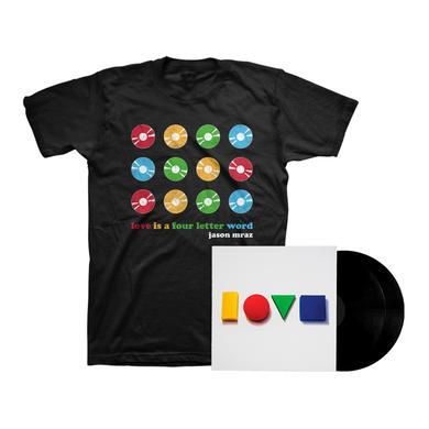 Jason Mraz Love Is A Four Letter Word Double LP + Tee Bundle