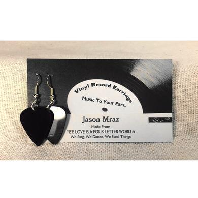 Jason Mraz Vinyl Record Earrings (Black)