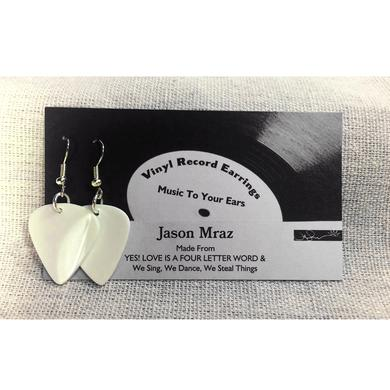 Jason Mraz Vinyl Record Earrings (White)