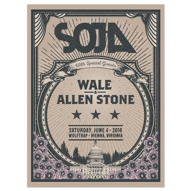 Soja Wolf Trap 2016 Screen Print Edition of 150