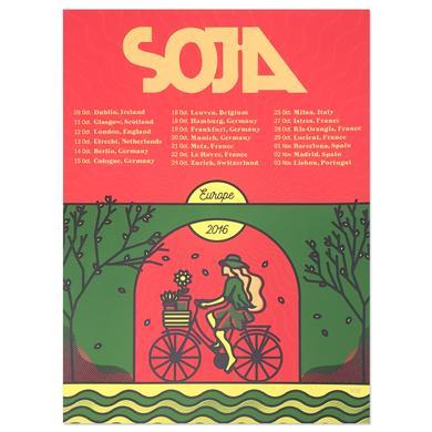 SOJA - Europe 2016 4 Screen Print (A3 European Size)