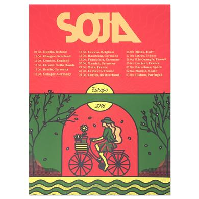 SOJA - Europe 2016 4 Screen Print (A3 European Size)