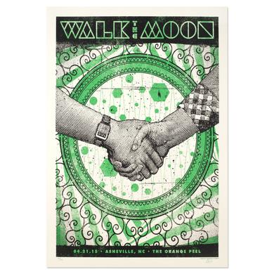 WALK THE MOON Poster 4/21/2015 Asheville, NC. The Orange Peel