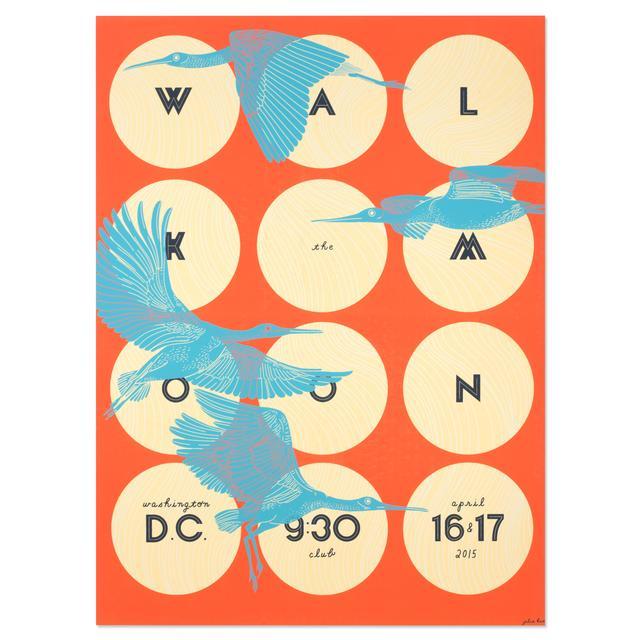 WALK THE MOON Poster Washington D.C. 9:30 Club 4/16-17/2015