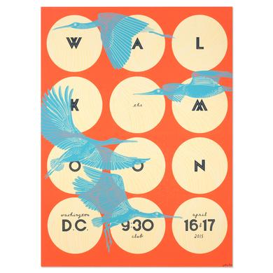 WALK THE MOON Poster Washington D.C. 9:30 Club 4/16-17/2015