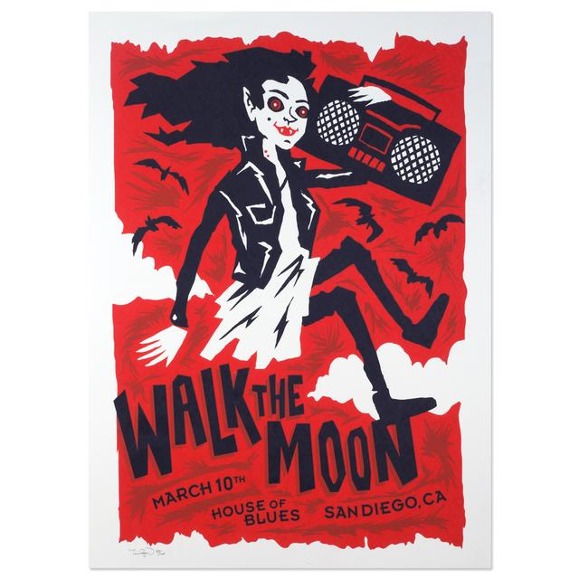 WALK THE MOON Poster March 10th House of Blues Sandiego, CA.