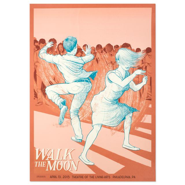 WALK THE MOON Poster April 13, 2015 Theatre of The Living Arts Philadelphia, PA Unsigned