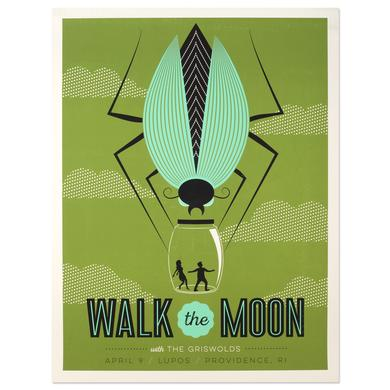 WALK THE MOON Poster April 9, 2015 w/The Griswolds Lupos Providence, RI