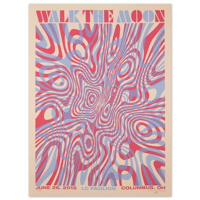 WALK THE MOON Poster June 26, 2015 LC Pavilion, Columbus, OH
