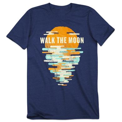 Walk The Moon Sunset Blue T-Shirt