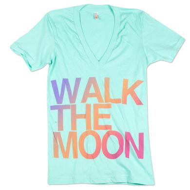 WALK THE MOON Teal V-Neck