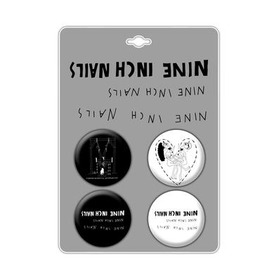 Nine Inch Nails Black and White Button Pack