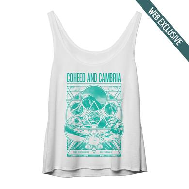 Coheed and Cambria Mountain Peace White Juniors Tank
