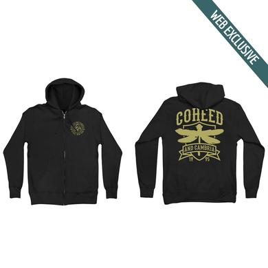 Coheed and Cambria Dragonfly Crest Zip Hoodie