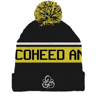 Coheed and Cambria Keywork Stripe Pom Beanie