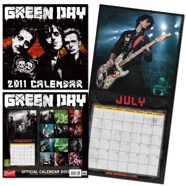 Green Day 2011 Wall Calendar