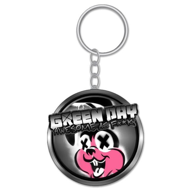 Green Day Metal Bunny Keychain