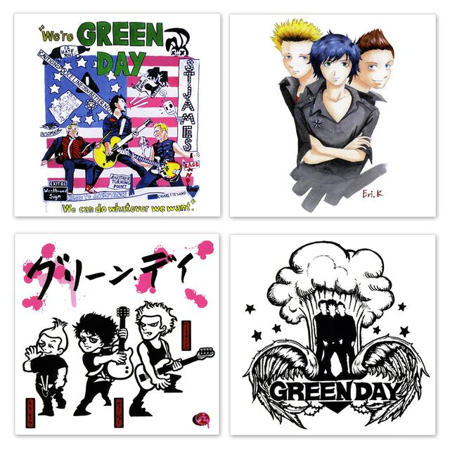 Green Day Fan Designed Sticker Pack
