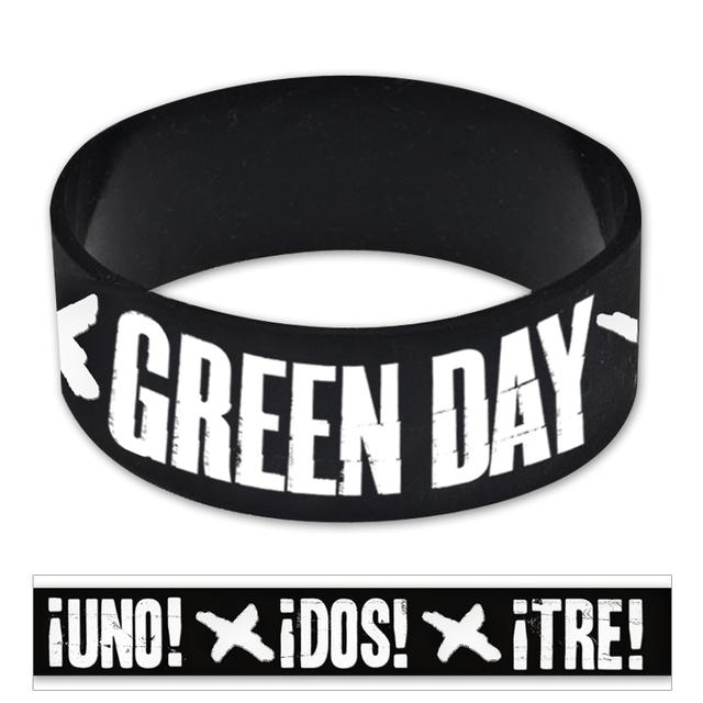 Green Day Punch X Rubber Bracelet