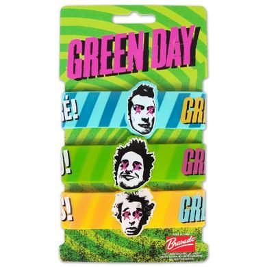 Green Day Set of 3 Rubber Bracelets