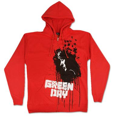 Green Day Puzzle Girl Red Zip Hoodie