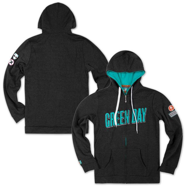 Green Day Tri-Blend Custom Zip Hoodie