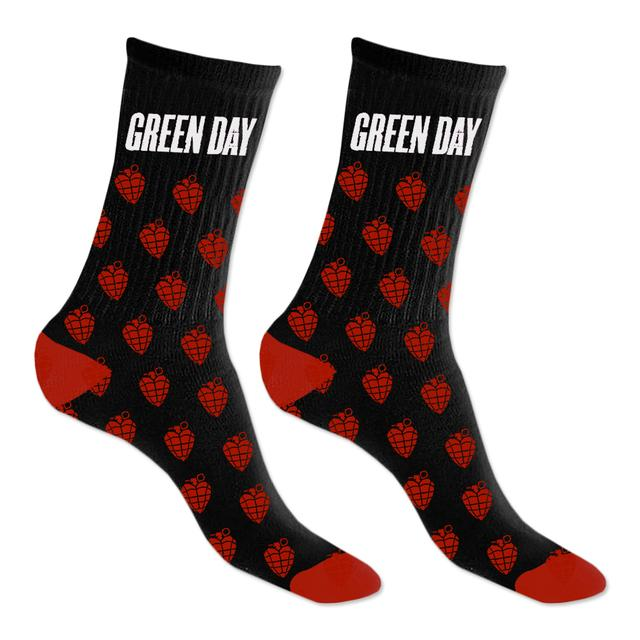 Green Day Grenade Repeat Knit Socks