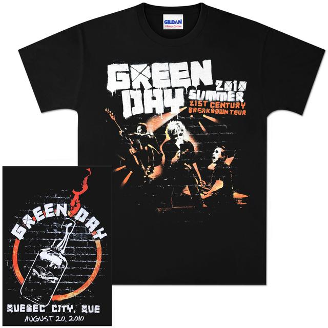 Green Day Summer 2010 Quebec City Event T-Shirt 08/20/10